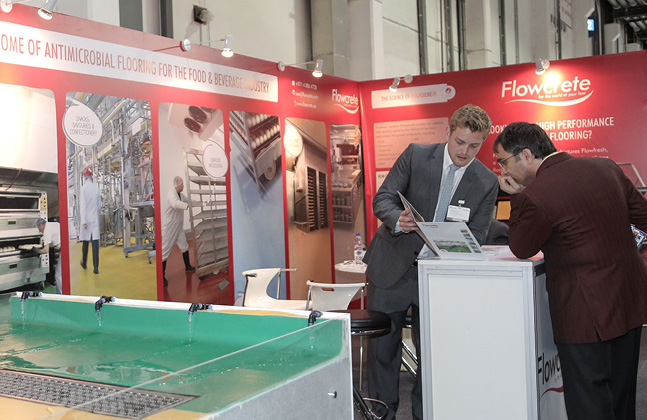 Flowcrete Flies The Flooring Flag at Gulfood Manufacturing 2014