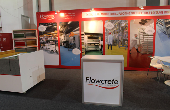 Flowcrete Flies The Flooring Flag at Gulfood Manufacturing 20143