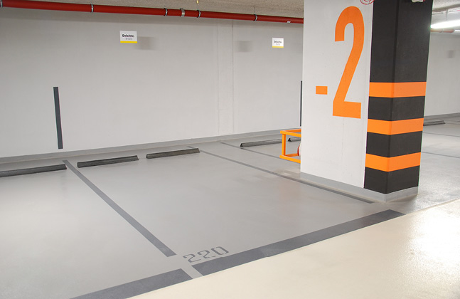 Quartz-Crystal Office Building Selects Deckshield For Multi-Storey Basement Parking Facility
