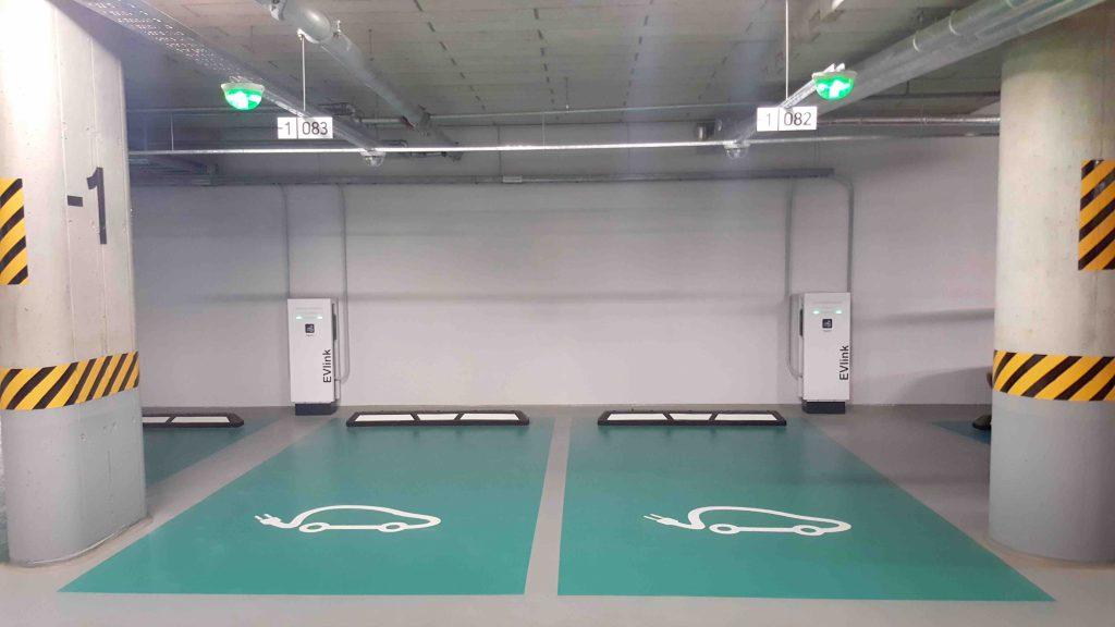 Underground Car Park At Quadrum Business City Lithuania