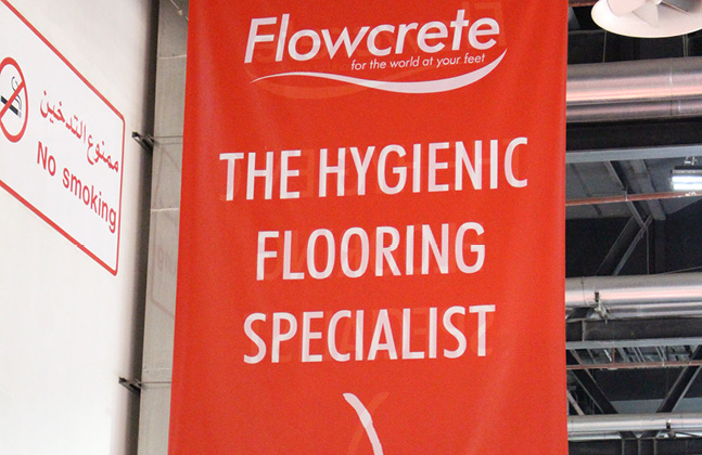 Flowcrete Flies The Flooring Flag at Gulfood Manufacturing