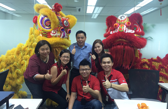 A Scintillating Lion Dance To Welcome Chinese New Year