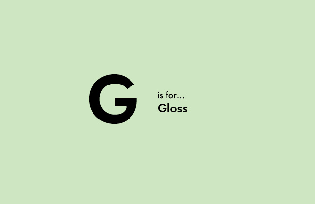 A-Z of Flooring – G is for Gloss