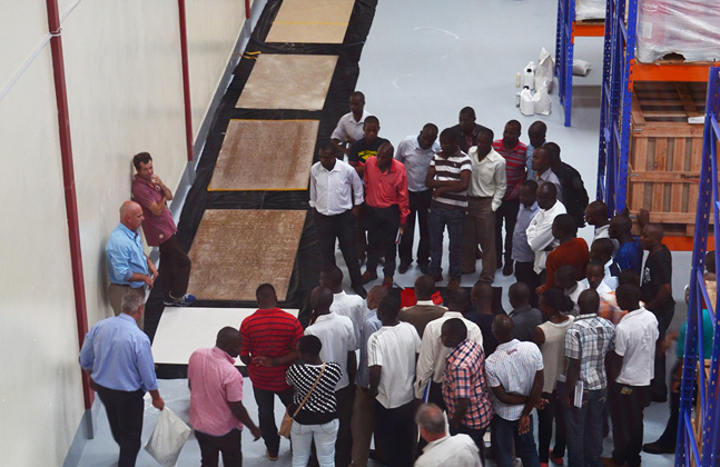 Applicators Get to Grips with Flowcrete East Africa's Floors