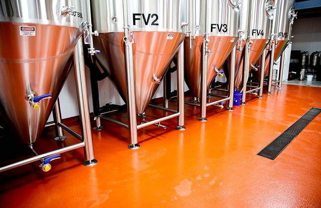 Head Brewer Bottles Flooring Recipe at Pale Fire Brewing Co., Harrisonburg, VA2