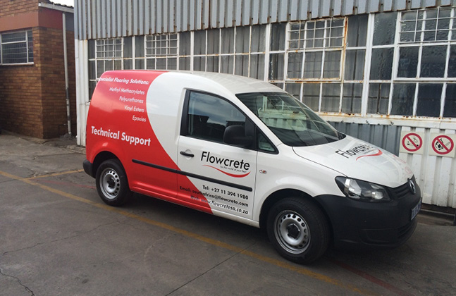 Andries Massyn and the Flowcrete Van About Town