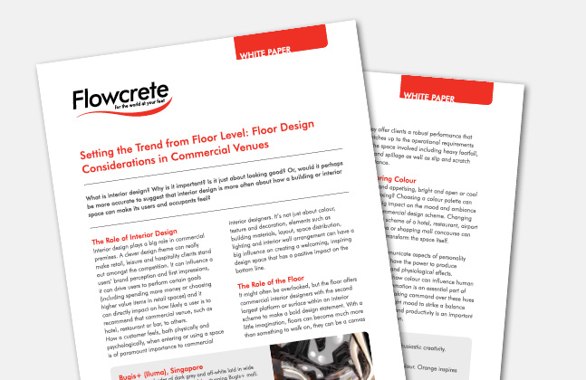 Floor Design Consideration Whitepaper Now Available