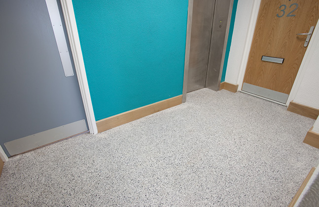 ... What are the benefits of refurbishing social housing developments with resin floors?