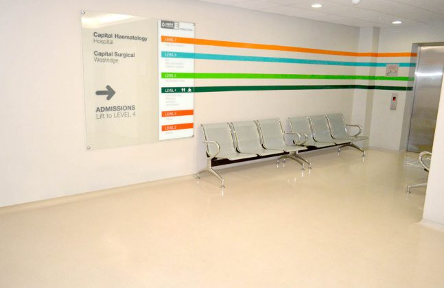 Hospital Concourse Flooring