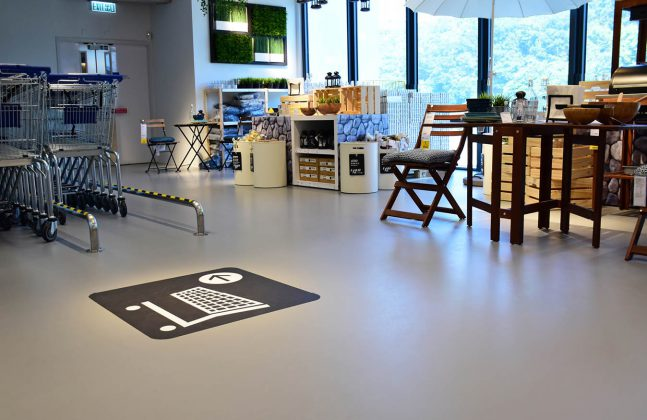 IKEA Furnishes New Hong Kong Store With Resin Floor All Things - Does ikea have flooring