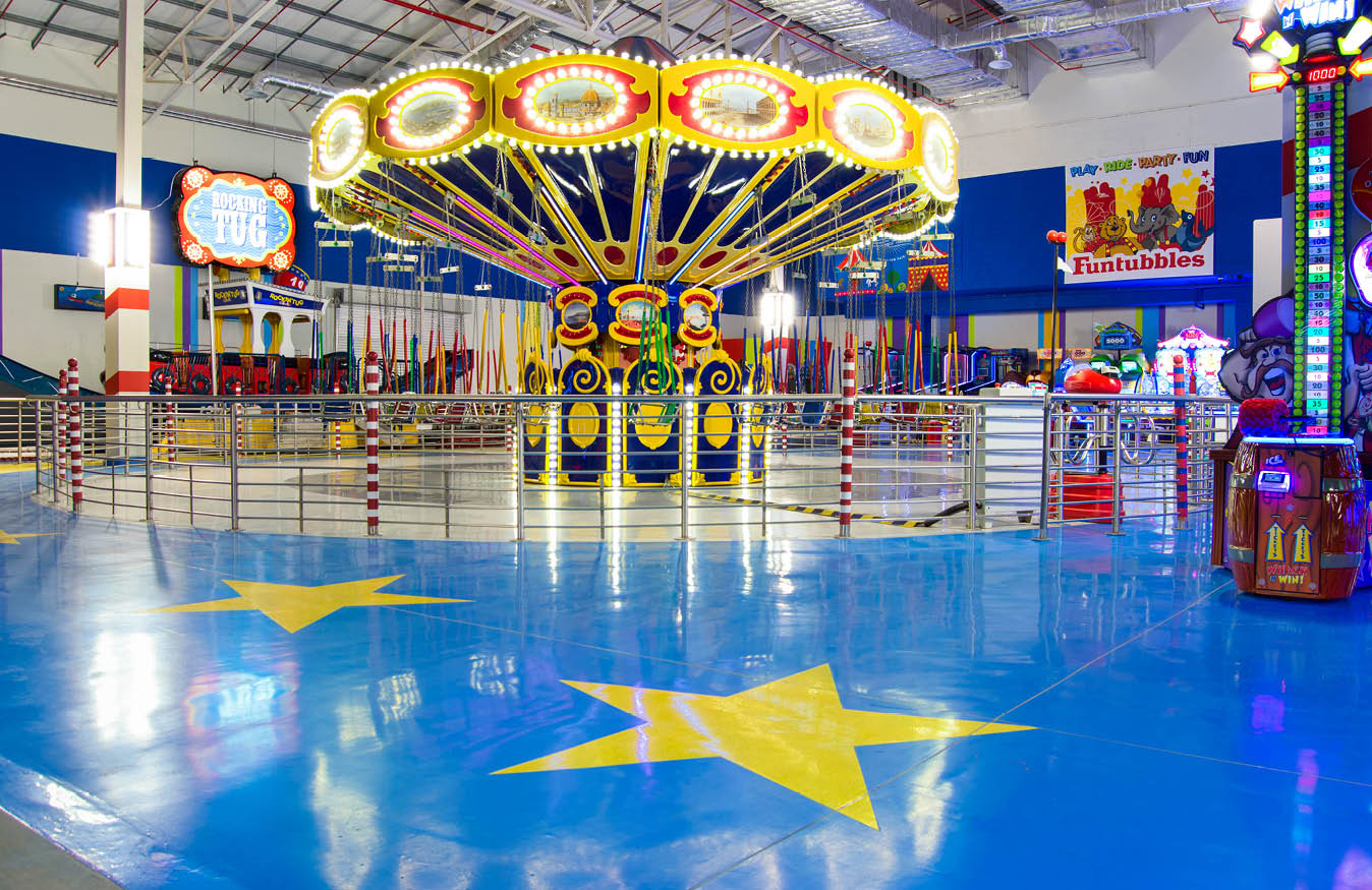 Flooring Stars in Mr Funtubbles Play Areas
